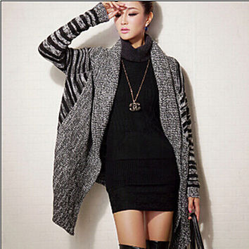 Women's Solid Gray Cardigan