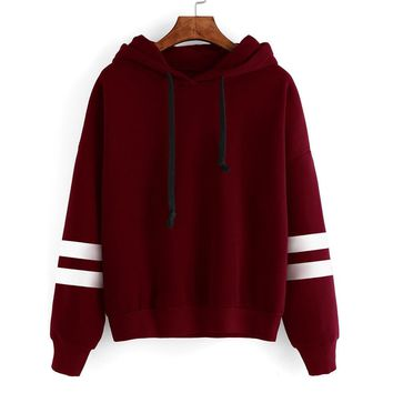 Eight Colors U Womens Long Sleeve Hoodie Sweatshirt Jumper Hooded Pullover Tops Blouse 9323 # Autumn And Winter New Style EBay A