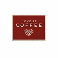"Busy Bree "" Coffee Love"" Brown Typograph KESS Naturals Canvas (Frame not Included)"