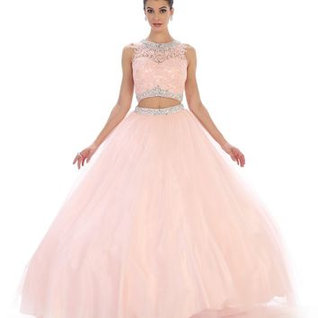 Long Two Piece Set Quinceanera Ball Gown Sweet 16 Dress