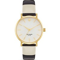 kate spade new york Harrison Street Stripe Metro Watch, 34mm | Bloomingdale's