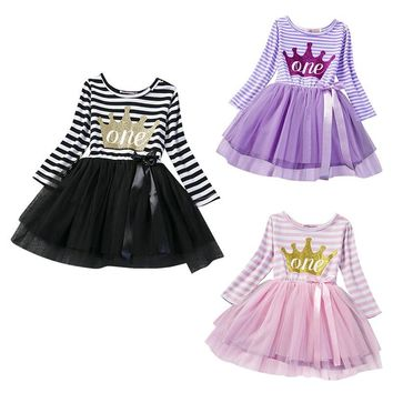 Fashion Princess Dress Girl Winter Baby Tutu Dresses Brand Girls Clothes Kids Toddler Clothing For Girl 1st Birthday Outfits