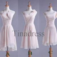 Custom Pink Short Bridesmaid Dresses 2014 Prom Dresses Party Dresses Hot Homecoming Dress Wedding Party Dress Party Dress 2014