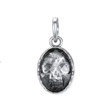 Sterling Silver Gothic Pendants Big Skull Punk