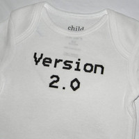 Version 2.0 Bodysuit. Baby Geek design. Can Be Customized By Size.