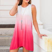 Open To Ombre Dress, Coral