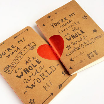 2 Kraft Paper BFF Notebooks
