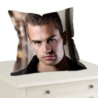 "Theo James Four Tobias Divergent Throw Pillow Case Cushion 16 ""18"" 20"" Cover"