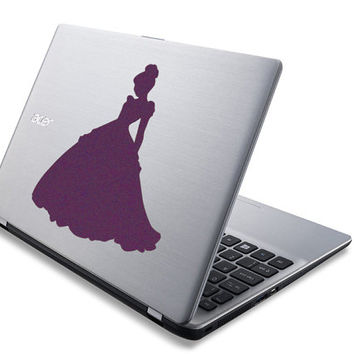Cinderella Wall Decor - Velvet Fabric Cinderella Decal - Disney Princess Laptop Sticker