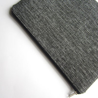 Gray MacBook sleeve 13 with zipper, MacBook Pro 13 sleeve, MacBook Pro 13 case, MacBook Pro 13 Retina sleeve, MacBook Air 11 Case