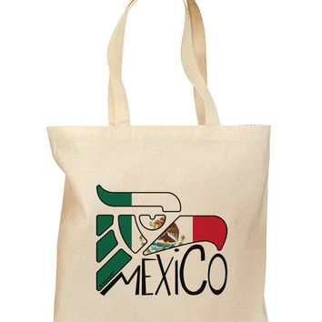 Mexico Eagle Symbol - Mexican Flag - Mexico Grocery Tote Bag by TooLoud