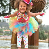 Mad Hatter Costume Tutu Dress 12months-5t  Alice in Wonderland, Tea Party Halloween Costume