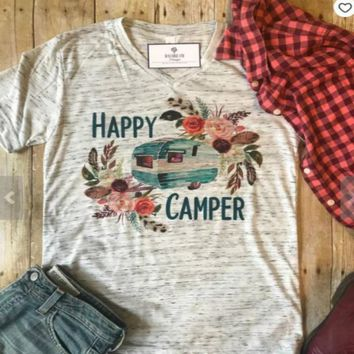 Boho Happy Camper Graphic Tee