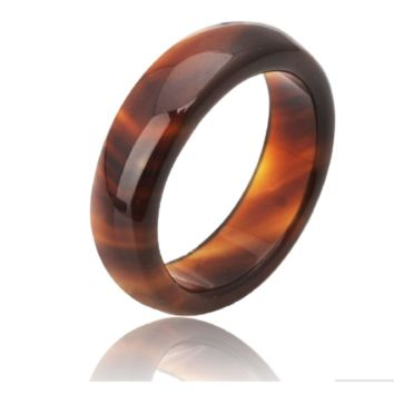 Natural Yellow Agate Jade Crystal Ring For Women (7,8)