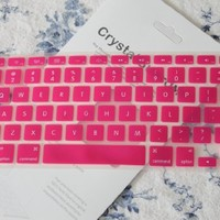 """CrystalGuardMB HOT PINK TPU Keyboard Cover Skin for Macbook AIR 13"""" A1369 from Late 2010 - Mid 2011(JULY)"""