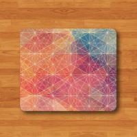 Geometric Color Drawing Galaxy Patten Colorful Mouse Pad Black Abstract Drawing Desk Deco Rubber Hipster Mousepad Work Office Personal Gift