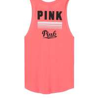 Raw Sleeve Muscle Tank - PINK - Victoria's Secret