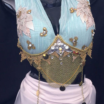 Khaleesi Mother of Dragons Bra: Rave wear, rave outfit, cosplay, edm, edc, festival, halloween costume, game of thrones, Daenerys Targaryen