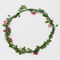 Reyna Floral Crown - Pink - One