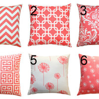 BACK to SCHOOL SALE Premier Prints Coral Pillow by Modernality2