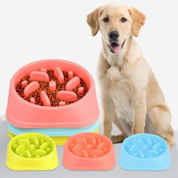 Slow Feeding Pet Food Bowl