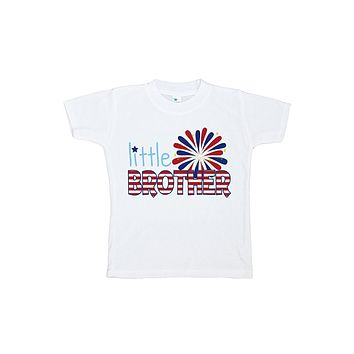 Custom Party Shop Boy's Little Brother 4th of July T-shirt