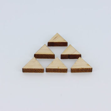 Geometric Triangle Laser Cutouts Charms Jewelry Pendant Earring, Wedding, Christmas, Ornaments - Froolu Sustainable Unfinished Wood Products
