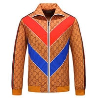 GUCCI Newest Fashion Casual Long Sleeve Lapel Zipper Cardigan Jacket Coat