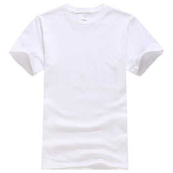 DCCKFS2 2017 New Solid color T Shirt Mens Black And White 100% cotton T-shirts Summer Skateboard Tee Boy Skate Tshirt Tops