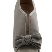 ModCloth Bow Other Way Bootie in Grey