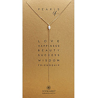 Dogeared Pearls Of Pearl Delicate Long Y-Necklace - Gold