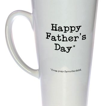 Happy Father's Day from your Favorite Child Tall Coffee or Tea Mug, Latte Size