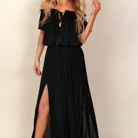 Island Breeze Maxi Dress Black