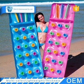 Custom PVC Swimming Pool Chair Inflatable Floating Lounger Beach Mattress
