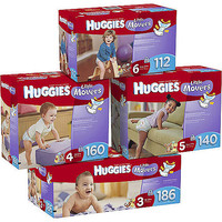 Walmart: Huggies Little Movers Diapers, Economy Plus Pack (Choose Your Size)