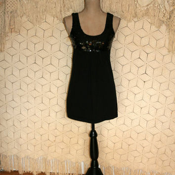 Little Black Dress Micro Mini Dress Sexy Dress Club Dress Black Sequin Dress Party Dress Junior Dress Size Extra Small XS Womens Clothing