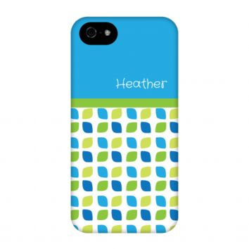Blue-Green Cut Circles Personalized Phone Case
