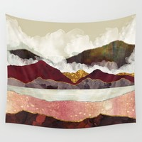 Melon Mountains Wall Tapestry by spacefrogdesigns