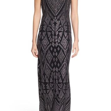 Jump Apparel 'Natalie' Glitter Print Gown | Nordstrom