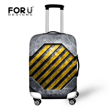 Designer Heavy Metal Style Waterproof Luggage Protective Covers For 28'' Suitcase Elastic Travel Luggage Dust Rain Spandex Cover