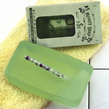 Money Soap - It Cleans! It Brings Wealth! Real Money in Every Bar From 1$ to 50$ - 5 oz (141g)