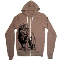 Lion Professor Hoodie Zipup Sweatshirt Jacket - American Apparel Sweater - XS S M L XL (7 Color Options)