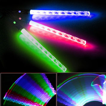 Colorful LED Wand Magic Color Changing Flashlight Torch Party Concert Glow  Light Stick Led Flashing e54161d812a6