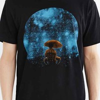 Curbside Star Fall Tee- Black