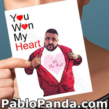 Funny Valentine Card | Dj Khaled | Snapchat They Dont Want You Cute Valentine Card Girlfriend Valentine Friend Valentine Cute Love Card Fun