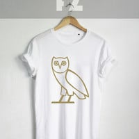 Drake Owl Shirt Drake Shirts Drake ovo Xo The Weekend Tshirt T-shirt Tee Shirt Black and White Unisex Size - NK96