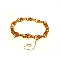 Spectacular Chunky Fancy Link Gold Filled Chain Bracelet