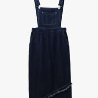 Midi Denim Overall Dress