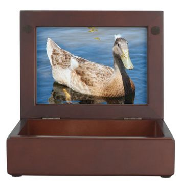 Brown Duck Photo Wooden Keepsake Box
