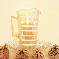 Jeannette Glass Iridescent Glass Pitcher